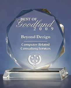 Beyond Dezign Receives 2009 Best of Goodland Award